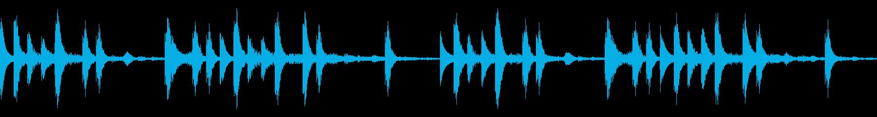 【ループB】浮遊感あるシンセが続くテクノの再生済みの波形