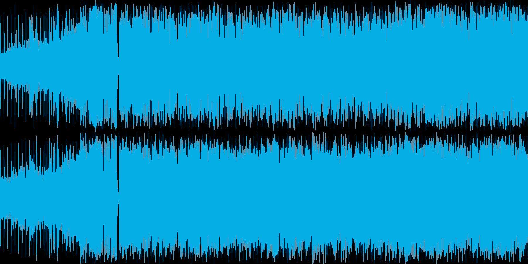 オーケストラとEDMを混ぜたBGMの再生済みの波形