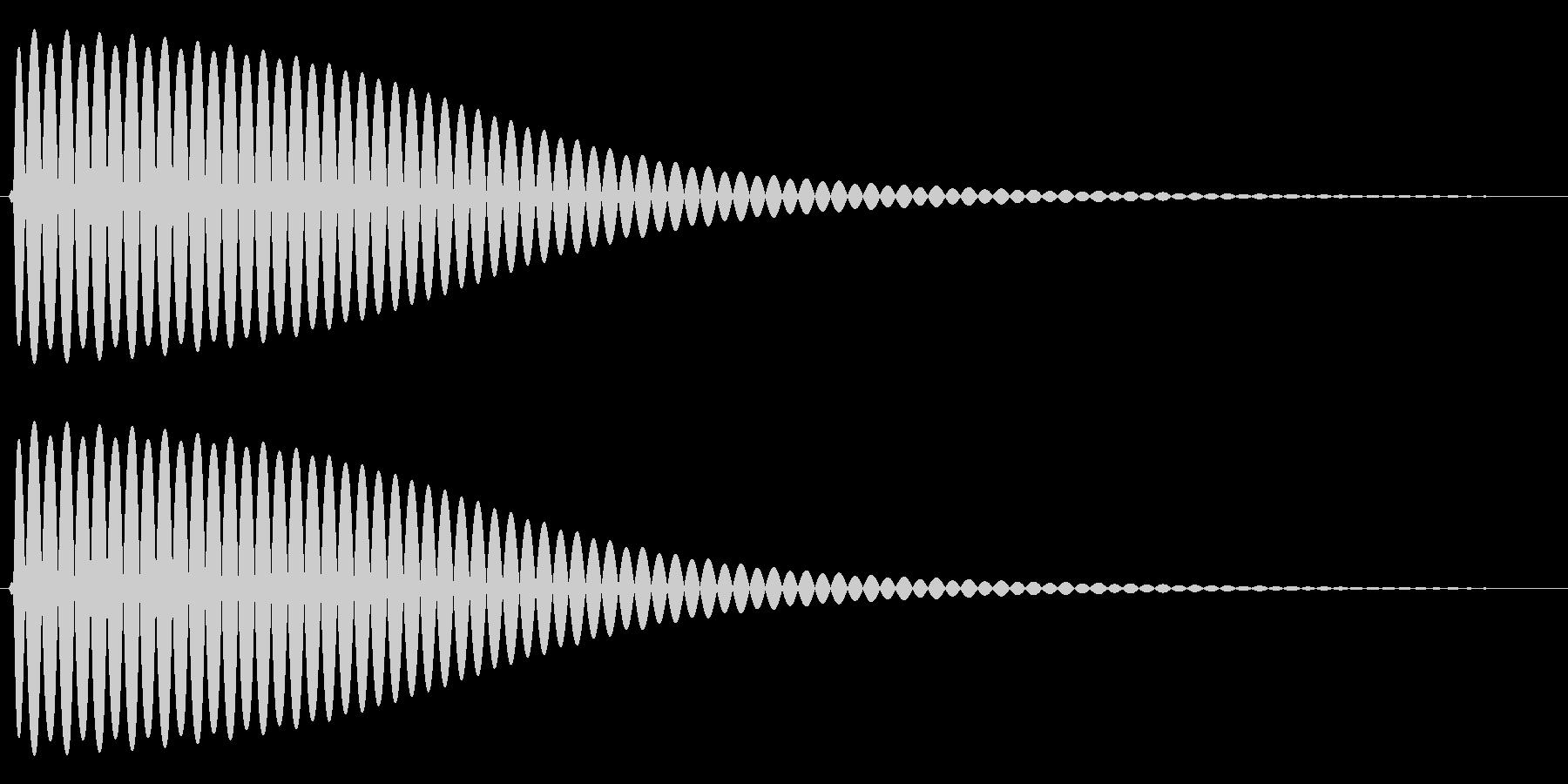 Com ファミコンなどのコマンド音 1の未再生の波形