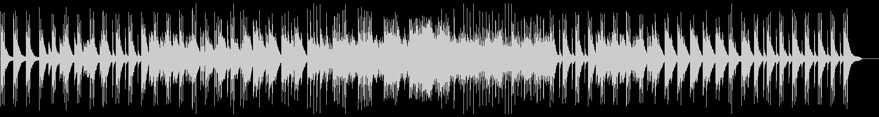 美しいピアノのヒーリングミュージックの未再生の波形