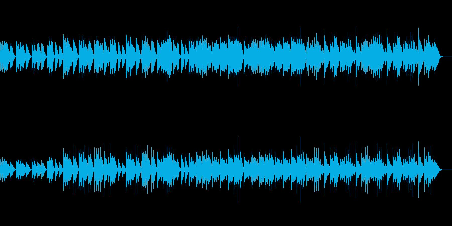 美術館をイメージしたピアノとカリンバの曲の再生済みの波形