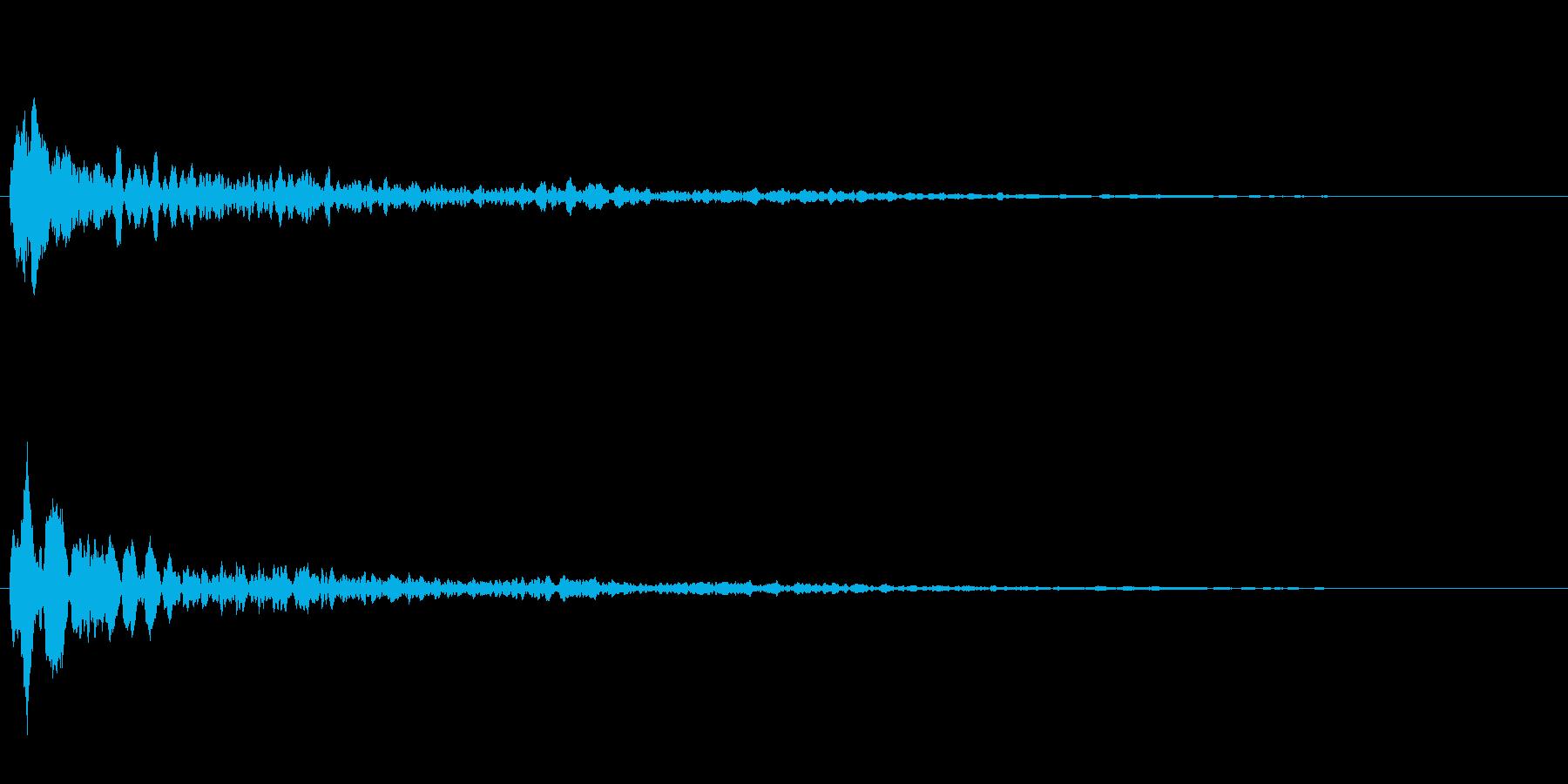 サスペンスに最適!ピアノの弦を弄ぶ音38の再生済みの波形