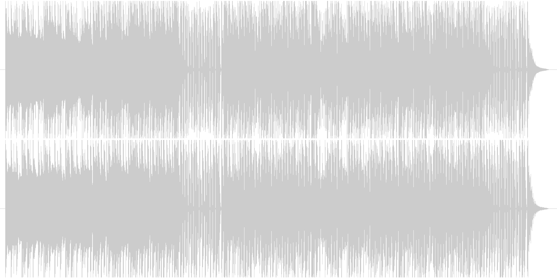琴とシンセの和風EDMの未再生の波形