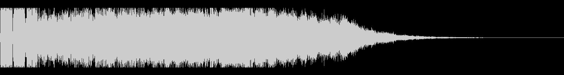 パチンコの大当たり確定インパクト音の未再生の波形