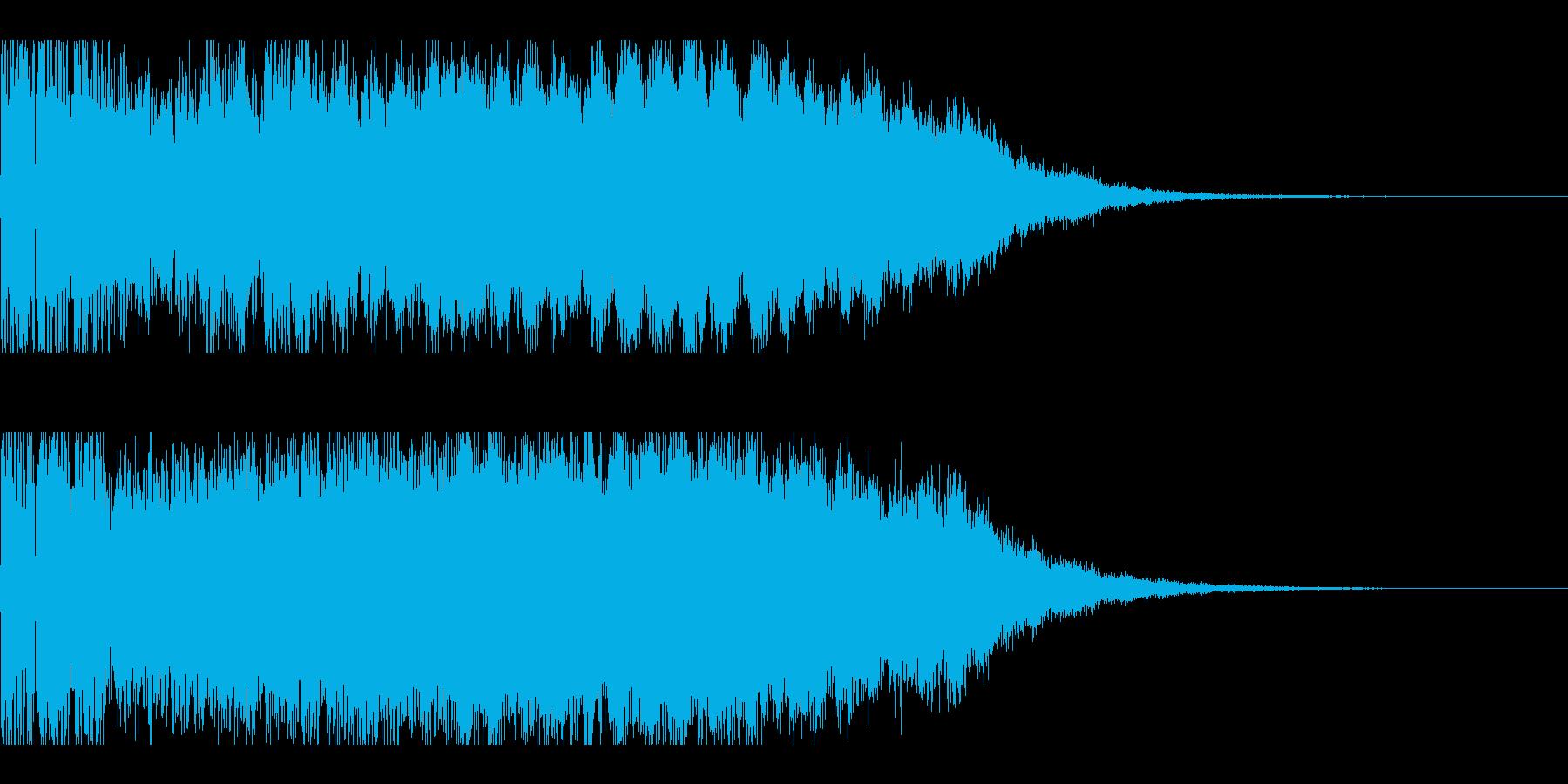 パチンコの大当たり確定インパクト音の再生済みの波形