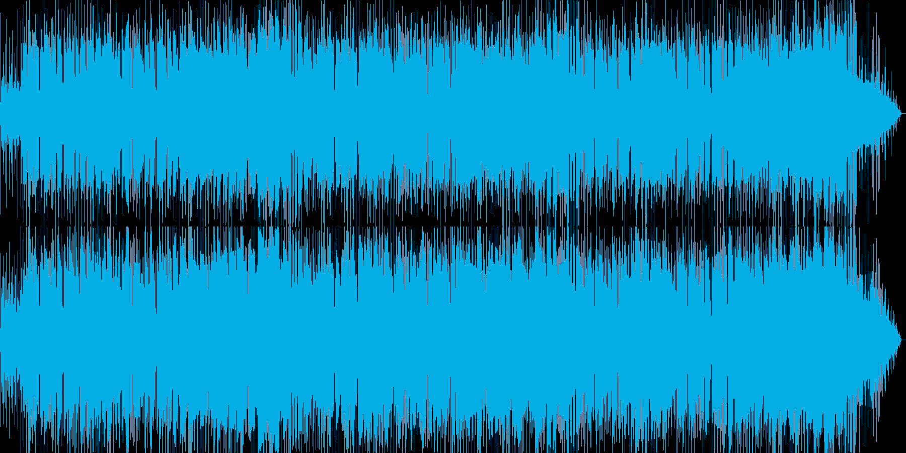 メロディアスなバラード曲の再生済みの波形