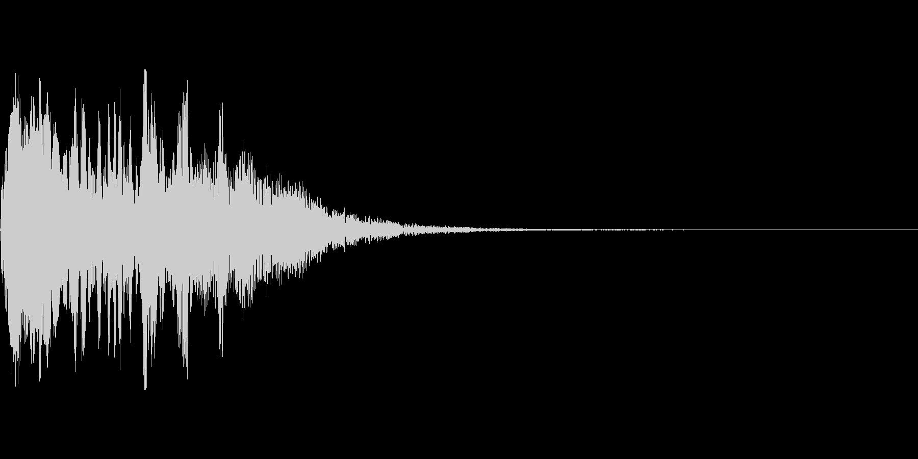 呪文を唱える効果音の未再生の波形
