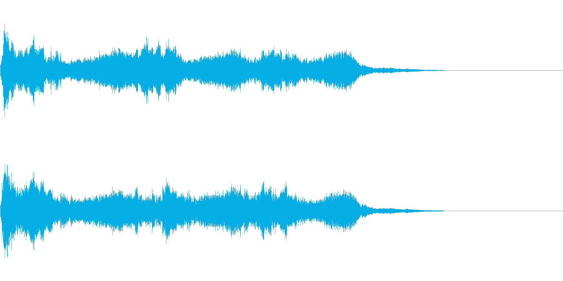 汎用的な魔法音の再生済みの波形