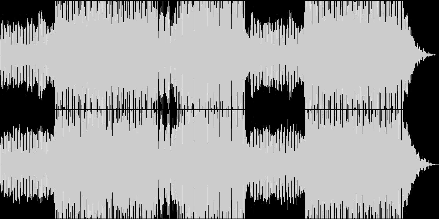 可愛いシンセ音による静かなEDMの未再生の波形
