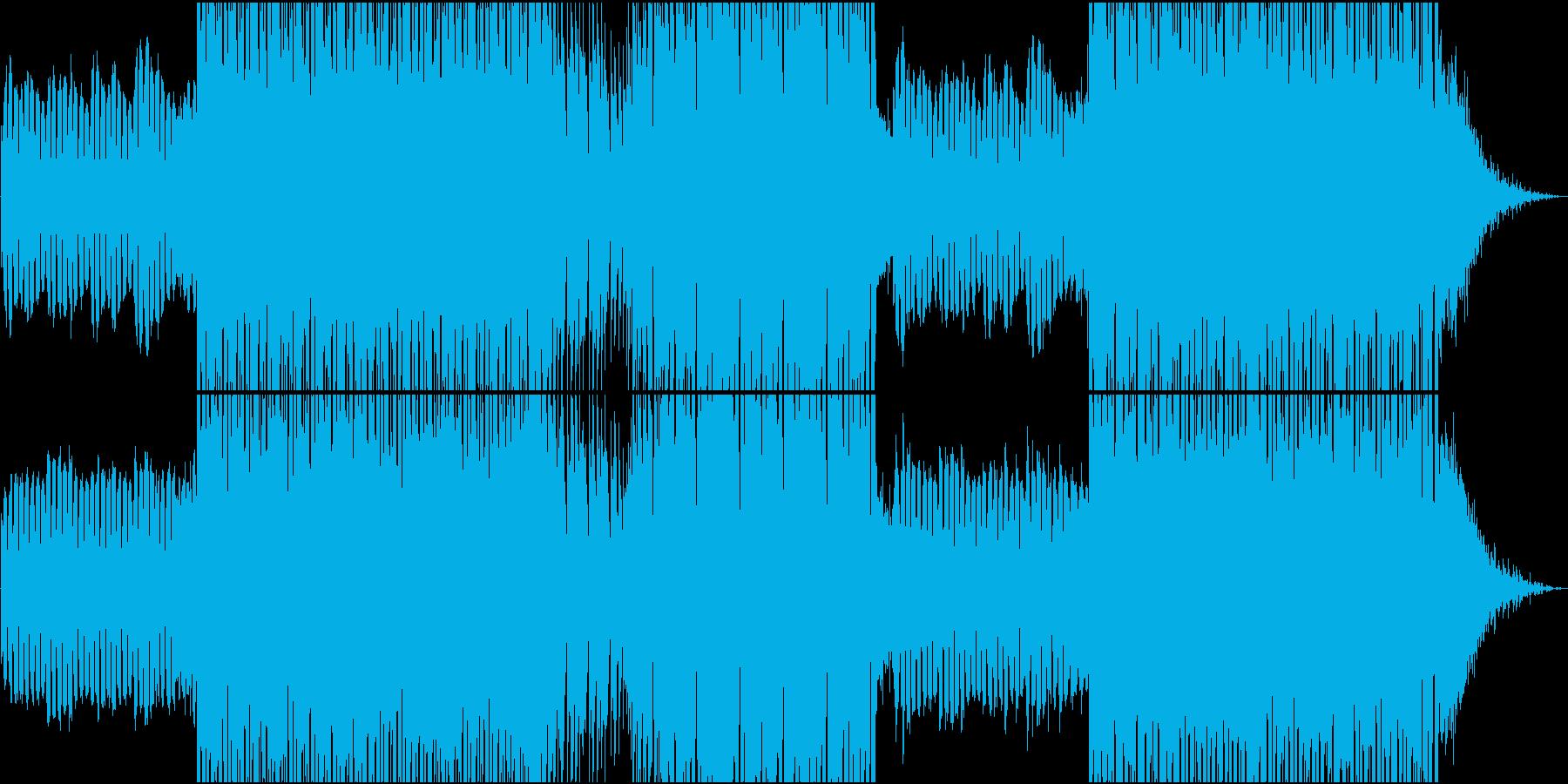 可愛いシンセ音による静かなEDMの再生済みの波形