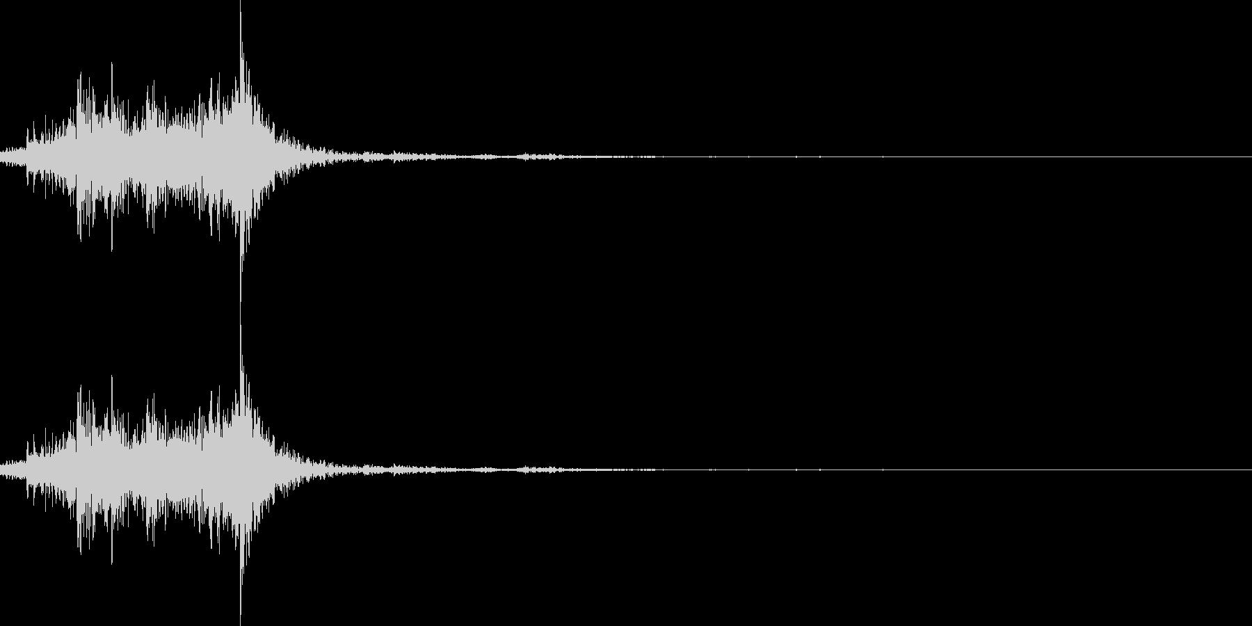 ガラガラガラの未再生の波形