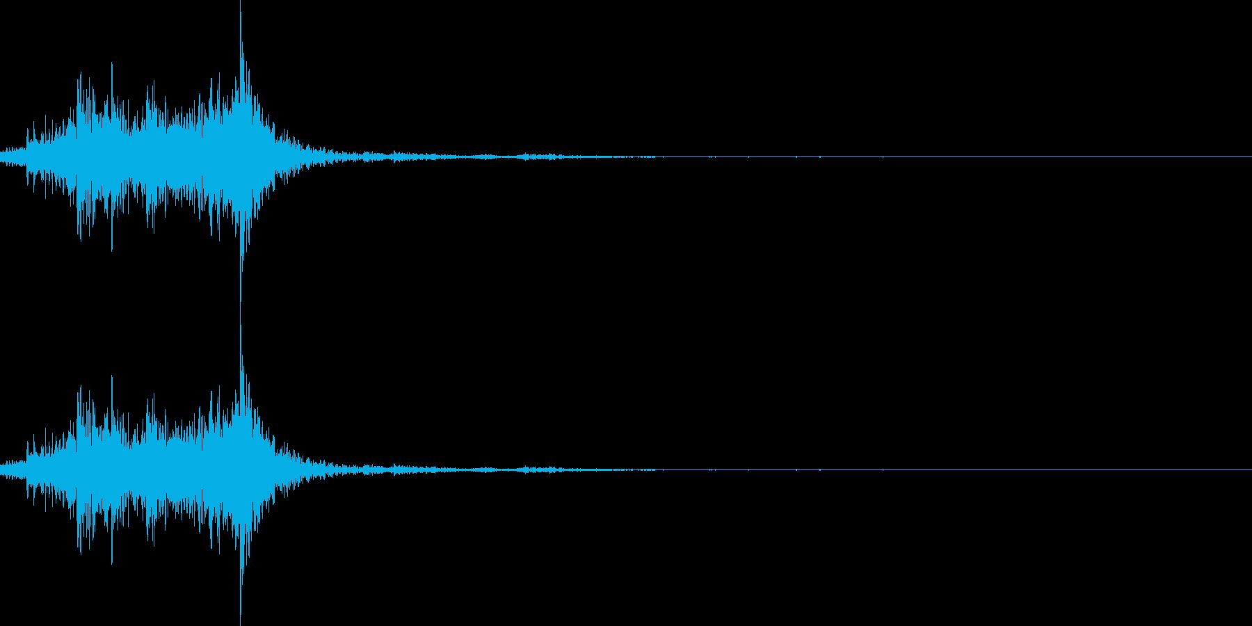 ガラガラガラの再生済みの波形