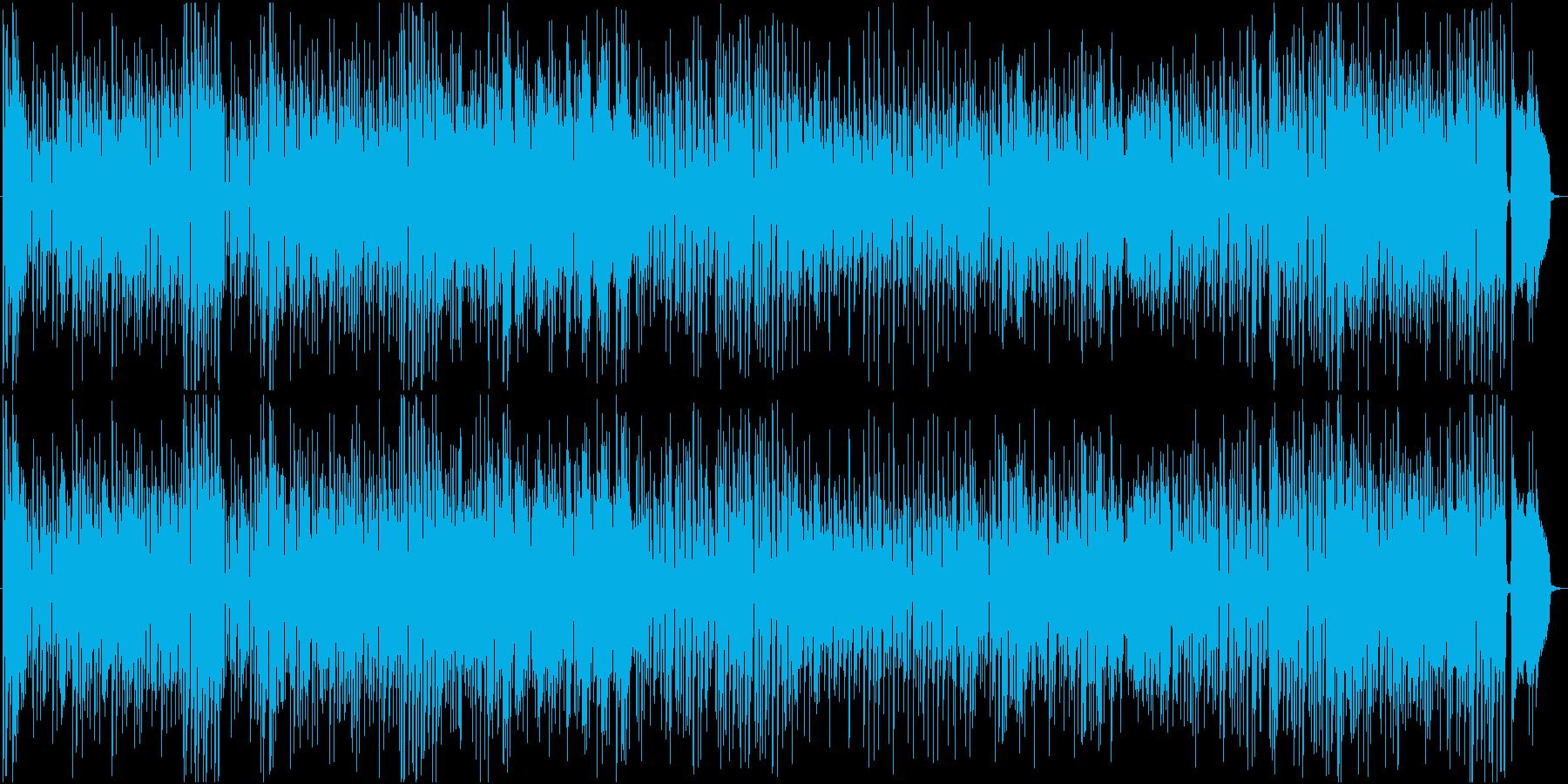 コミカルで軽快なジャズ風サックスの再生済みの波形