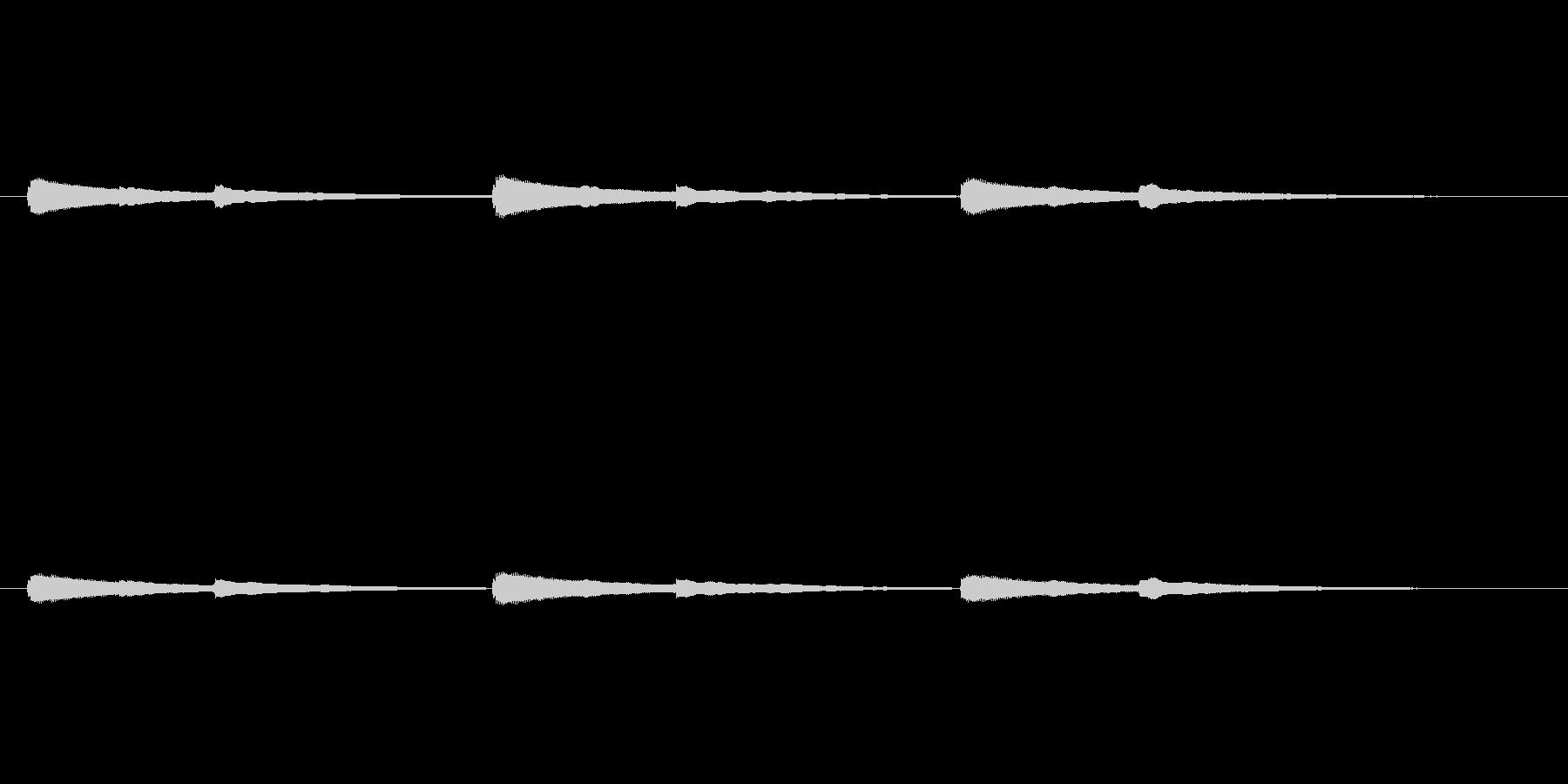 とてもシンプルなチャイム音の未再生の波形