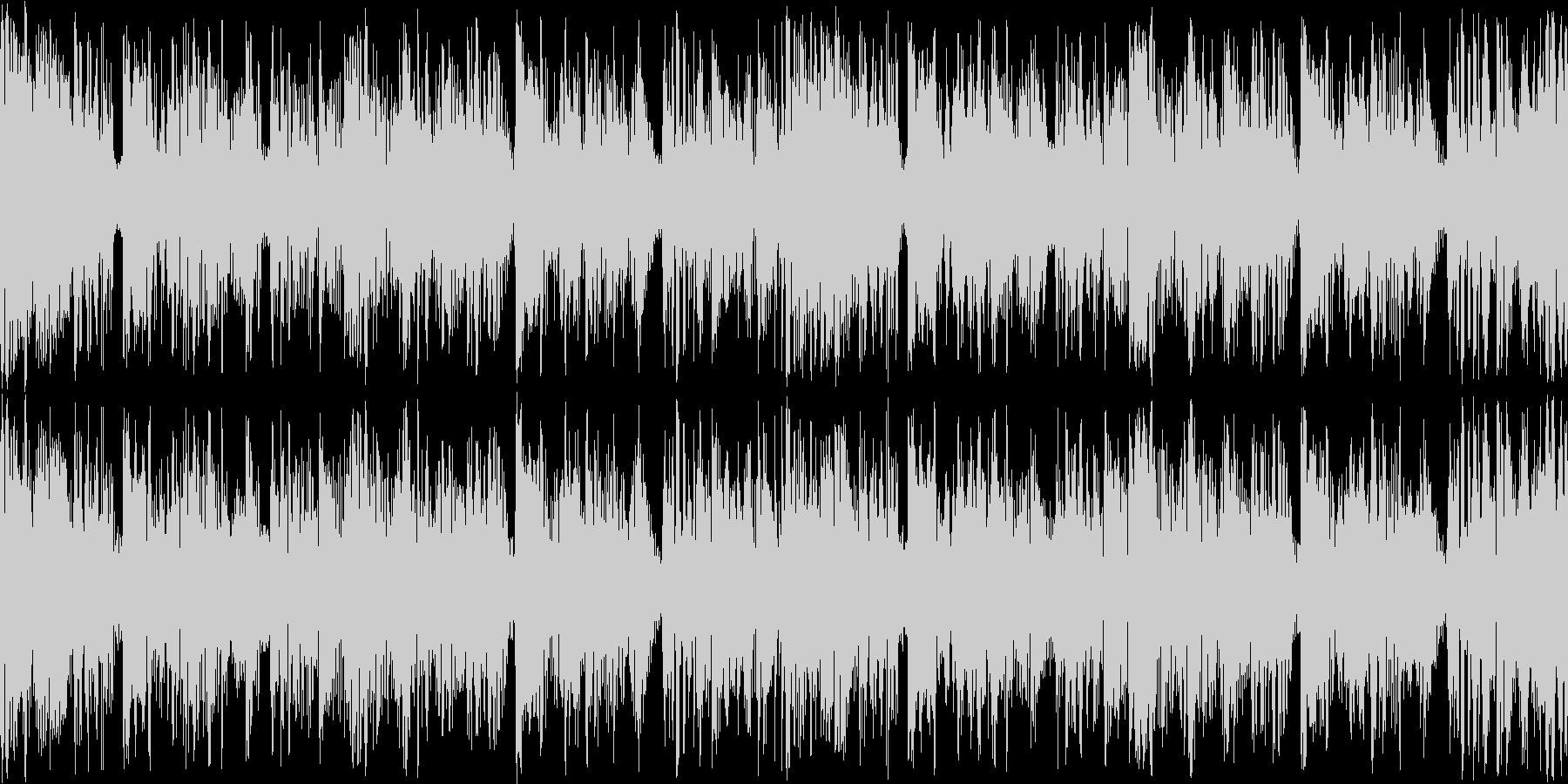 緊迫感のある4つ打ちループBGMの未再生の波形