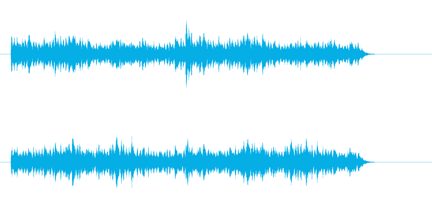 テクノの近未来的なジングル、サウンドロゴの再生済みの波形