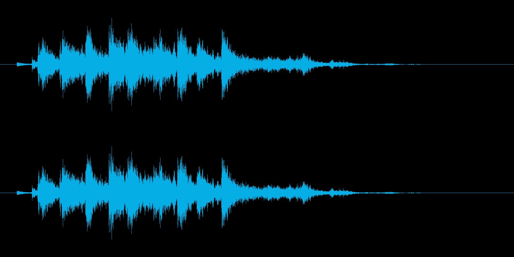 音侍「シャシャシャン」ツリーベルの振り音の再生済みの波形