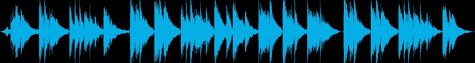 波の音から始まるアコギインストの再生済みの波形