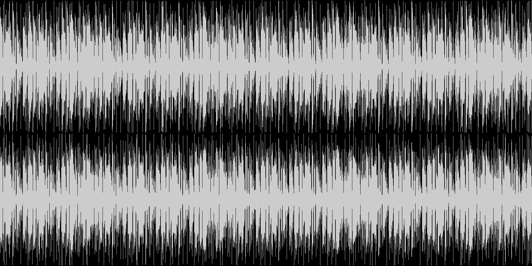 ファンク調のリズミカルカッティングループの未再生の波形