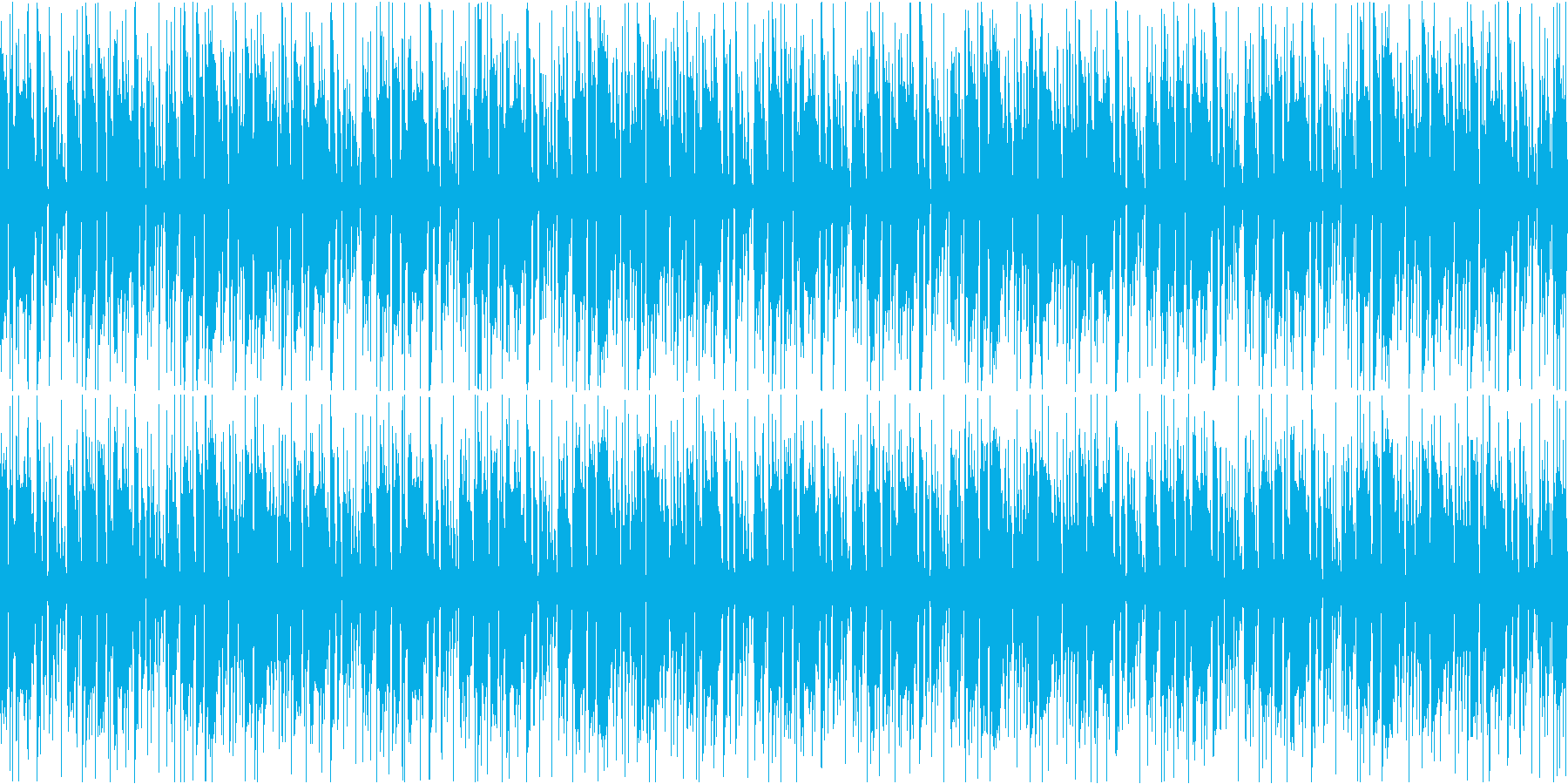 ファンク調のリズミカルカッティングループの再生済みの波形