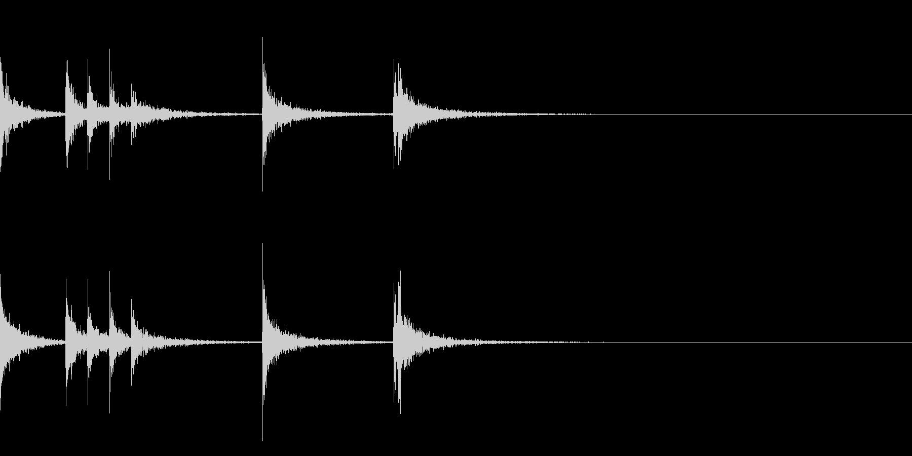 カスタネット!フレーズ4 エフェクト有の未再生の波形