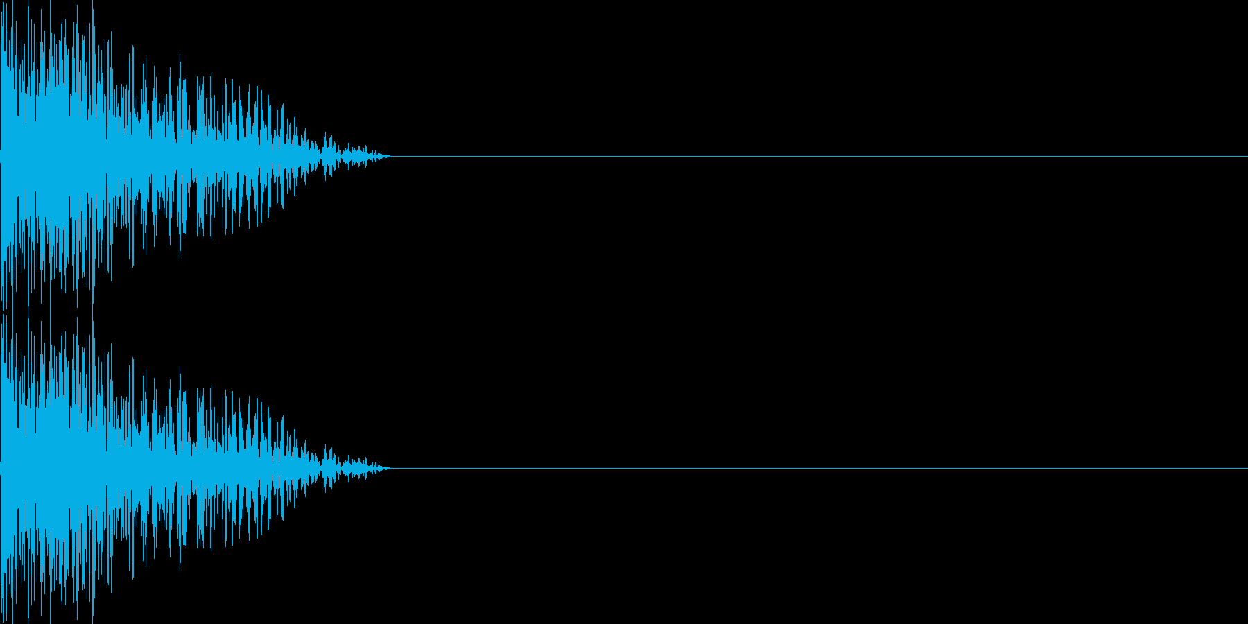 攻撃音07(重規模の銃)の再生済みの波形