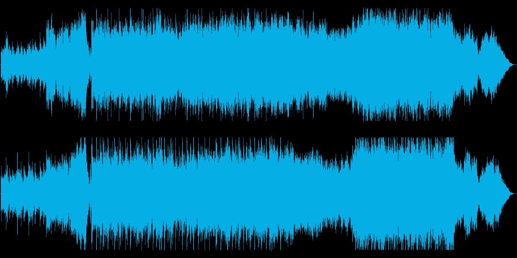 重厚で力強さを感じる映画・ゲーム音楽の再生済みの波形