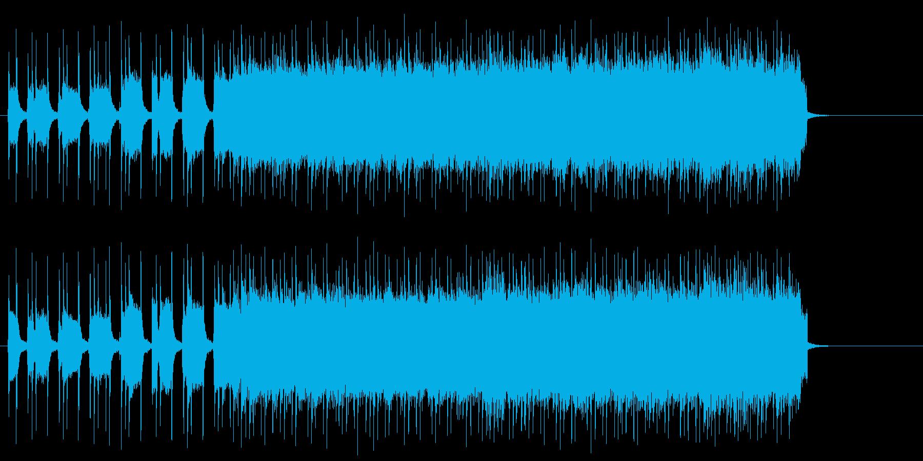 広大なイメージのタフなハード・ロックの再生済みの波形