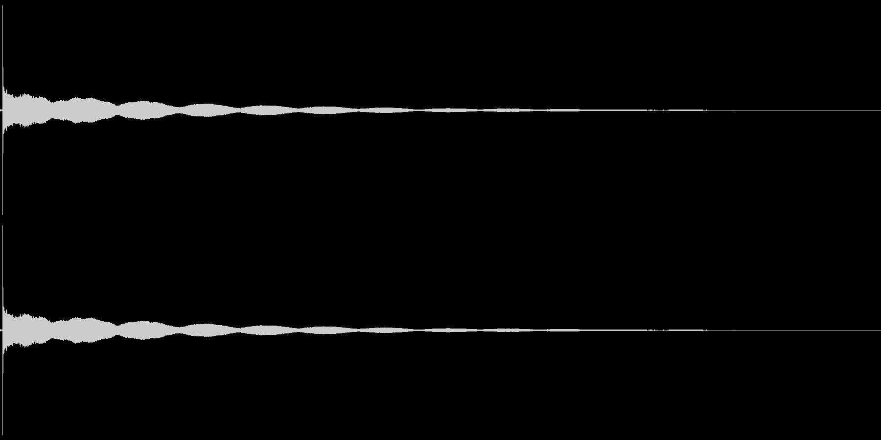 チーンという仏壇の鐘の音の未再生の波形
