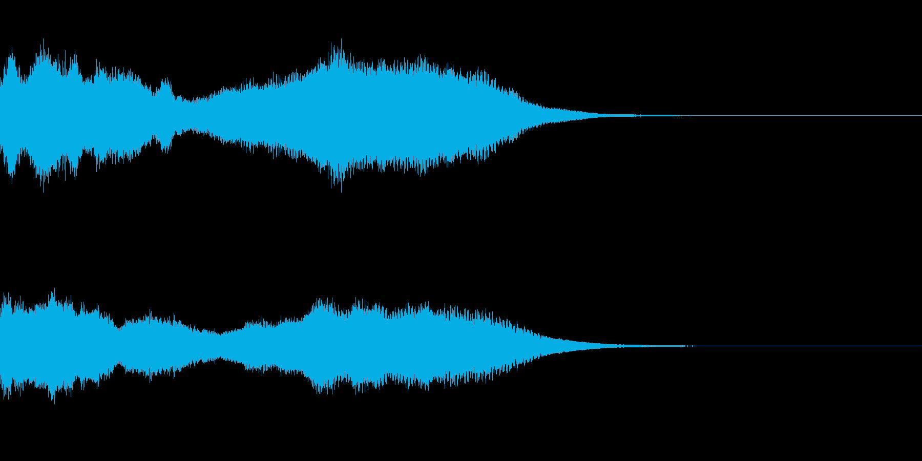 神社 結婚式の笛(笙)フレーズジングル1の再生済みの波形