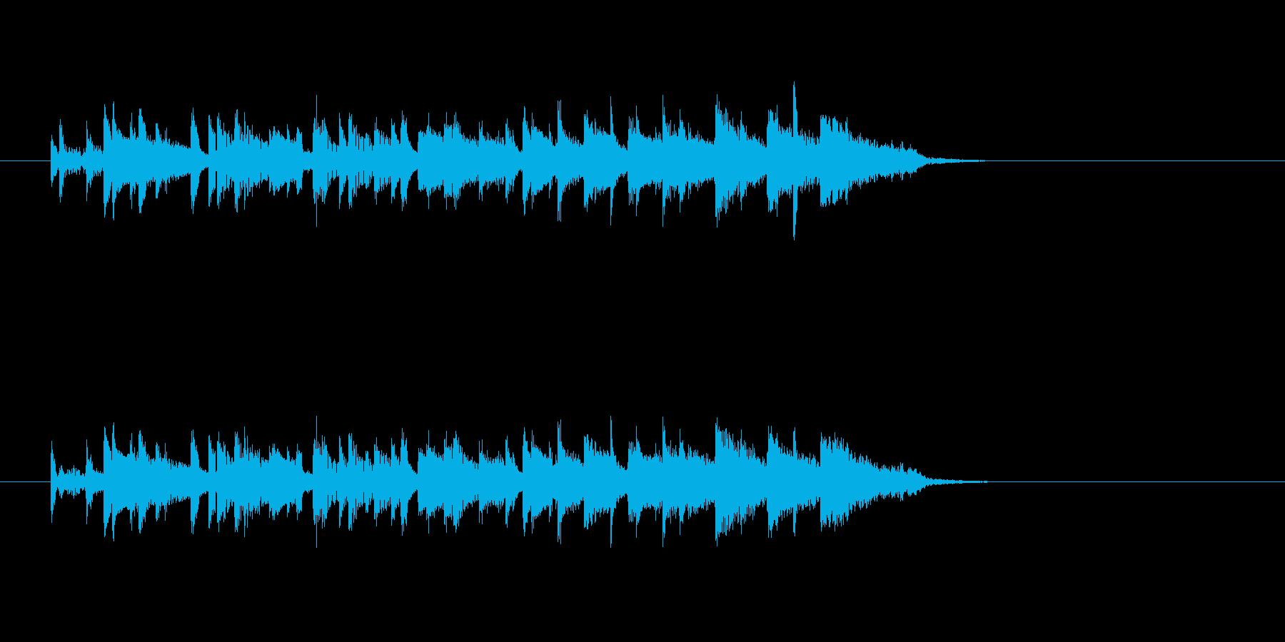 ポップ 民族楽器 明るい わくわくの再生済みの波形