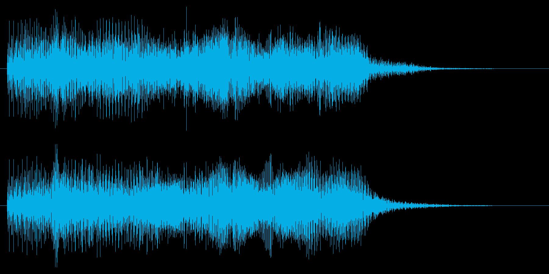 レトロなゲーム風のミス音 失敗 残念の再生済みの波形