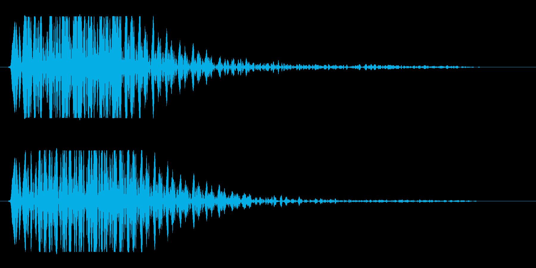 何かに弾かれたような音の再生済みの波形