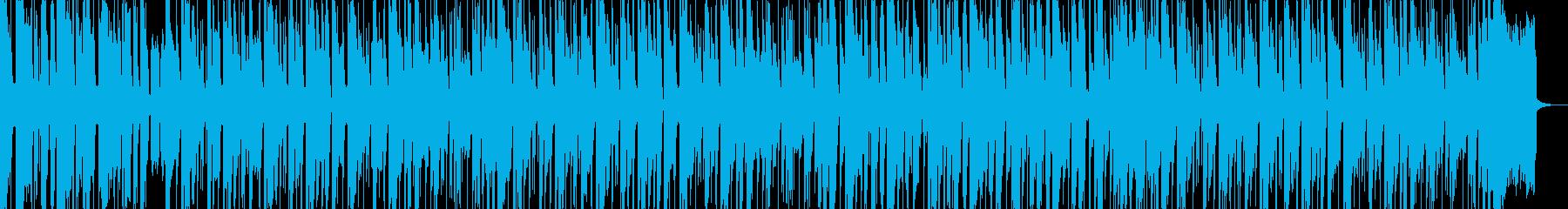 ヒップホップ風の明るいBGMの再生済みの波形