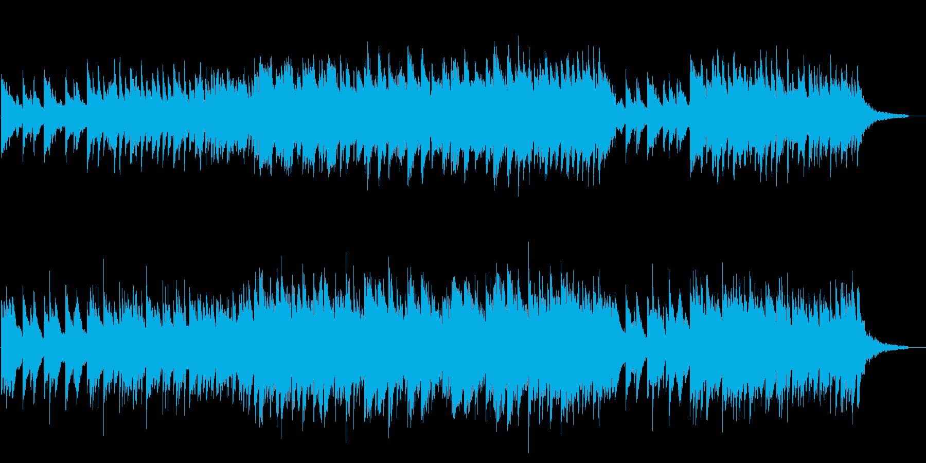 神秘的で不思議な雰囲気のピアノ曲の再生済みの波形