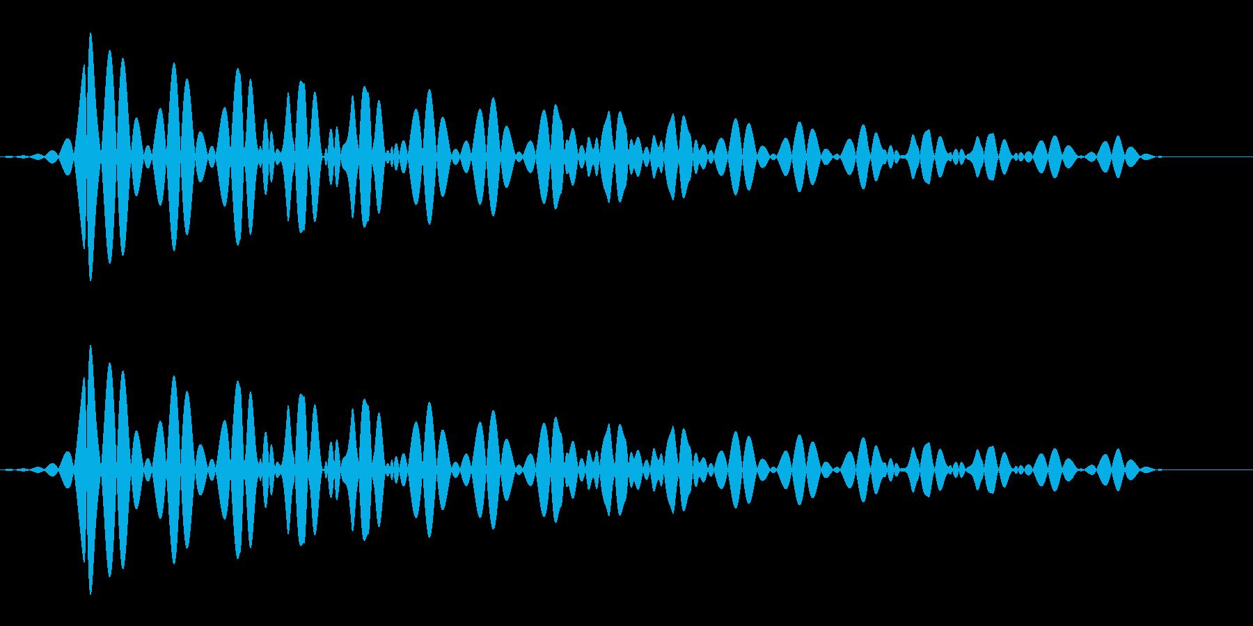 シンプルなキャンセル音の再生済みの波形