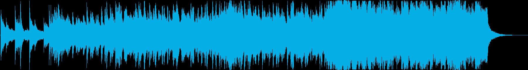 ピアノとストリングスの前向きなジングルの再生済みの波形