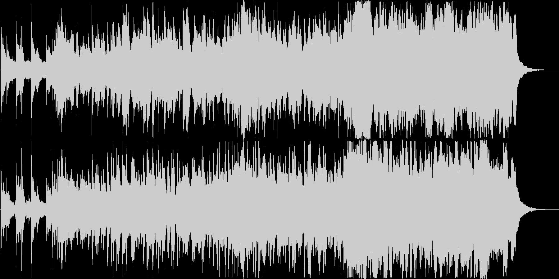 ピアノとストリングスの前向きなジングルの未再生の波形