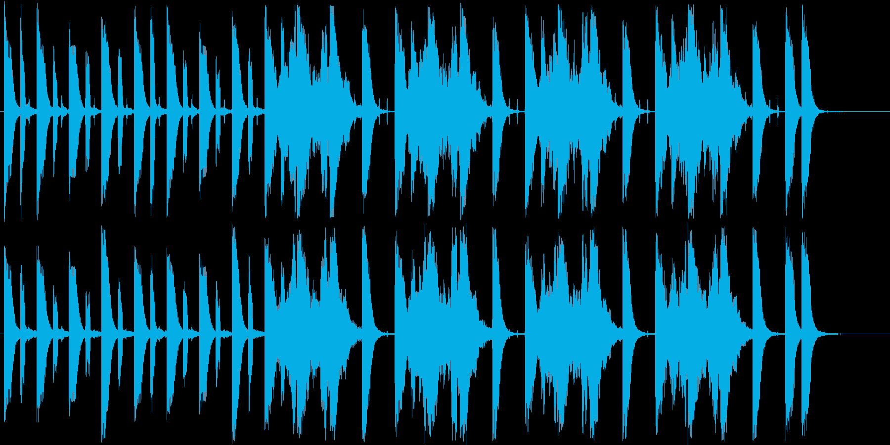 ファンタジーなシンセ短めサウンドの再生済みの波形