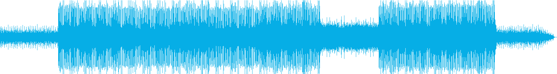 疾走感のあるテクノロックの再生済みの波形