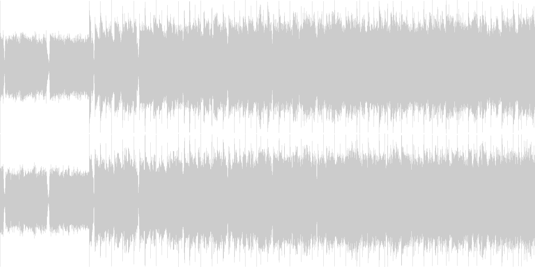 ロックバラード ループの未再生の波形