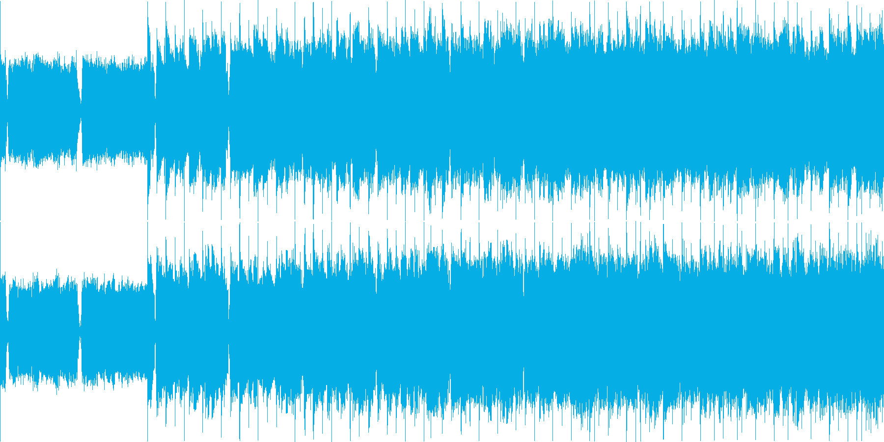 ロックバラード ループの再生済みの波形