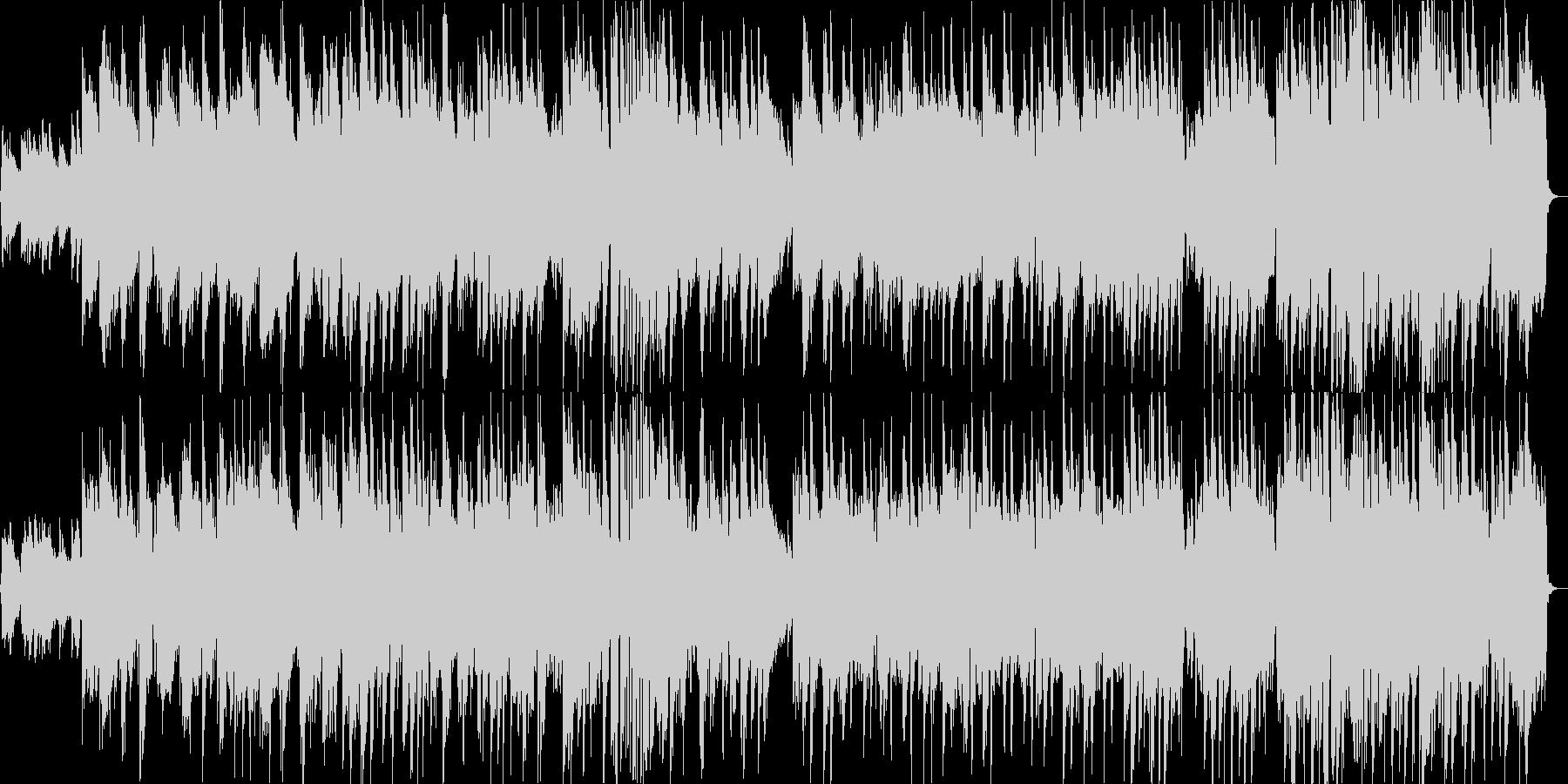 フルートの旋律による明るい雰囲気の曲の未再生の波形