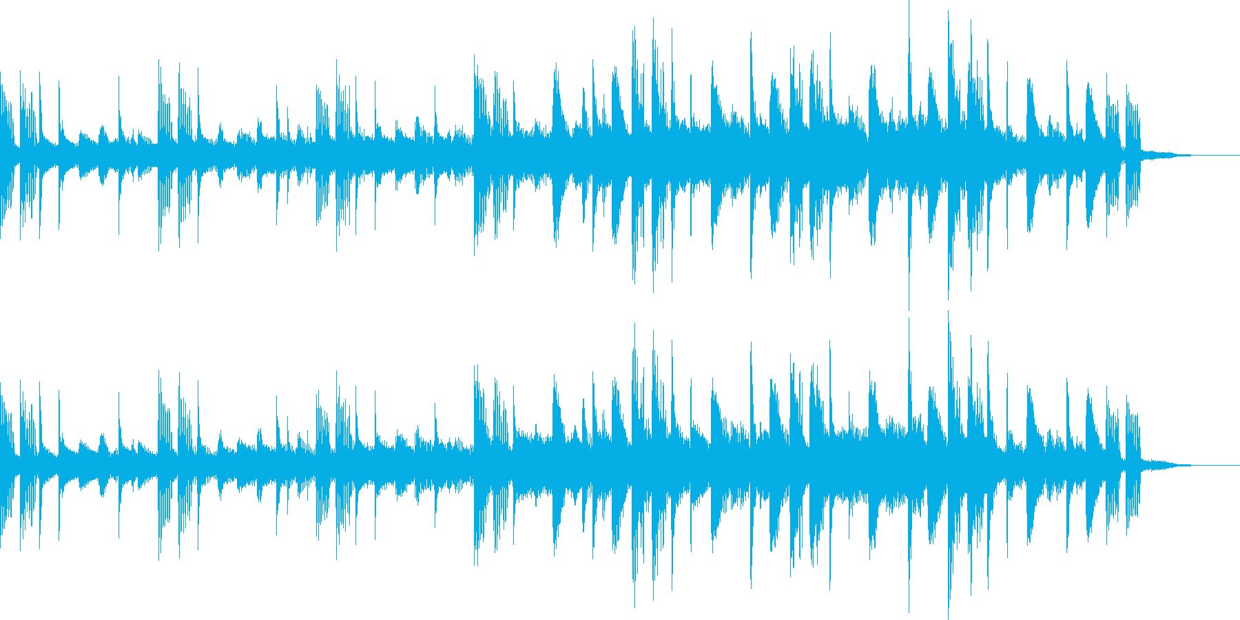 ほのぼのとしたイントロBGMの再生済みの波形
