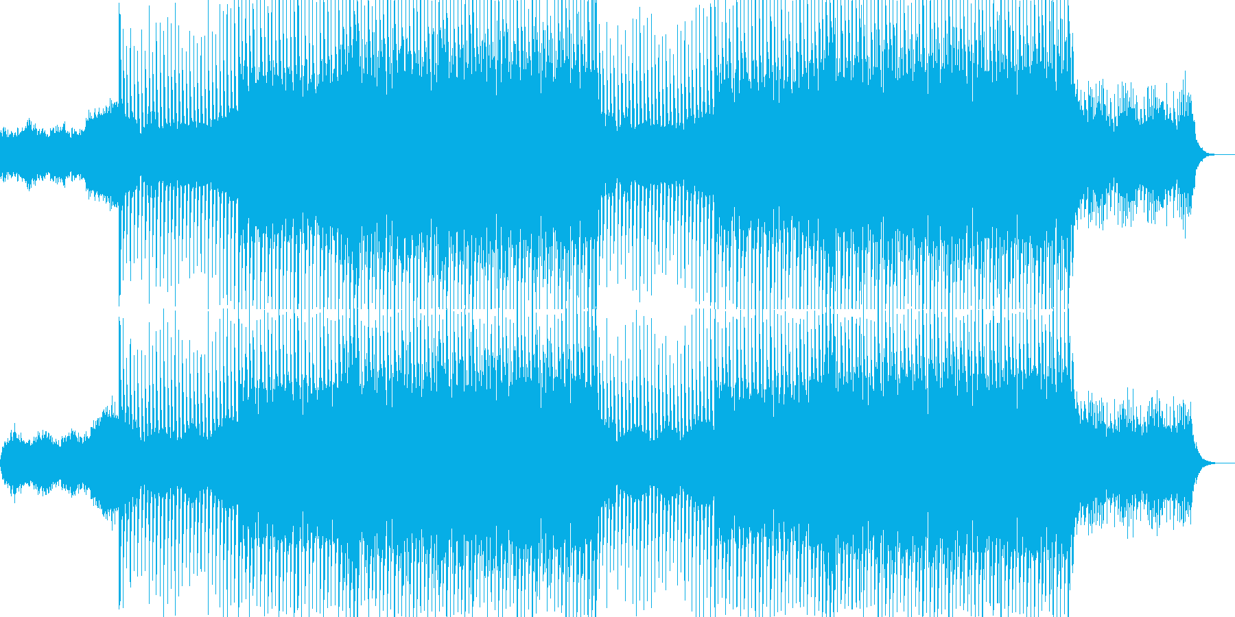 ポップなクラブ系ダンスEDM-06の再生済みの波形