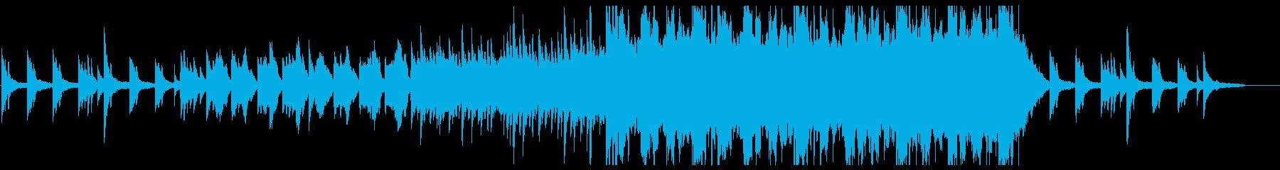 ピアノとストリングスの幻想的で優しい曲の再生済みの波形