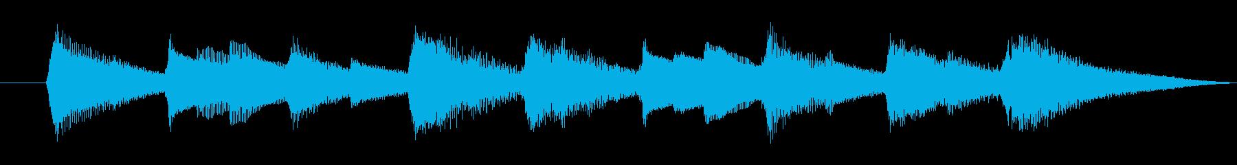 ジングル 綺麗なオルゴールの音色の再生済みの波形