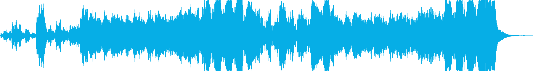 ヒーローの入場に適したオーケストラの再生済みの波形