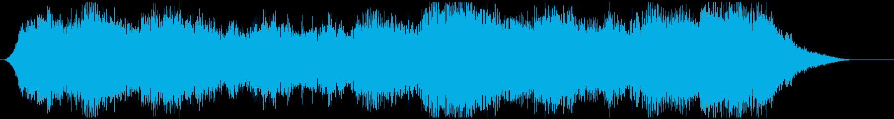 サスペンス映画の犯罪の場面の音楽の再生済みの波形