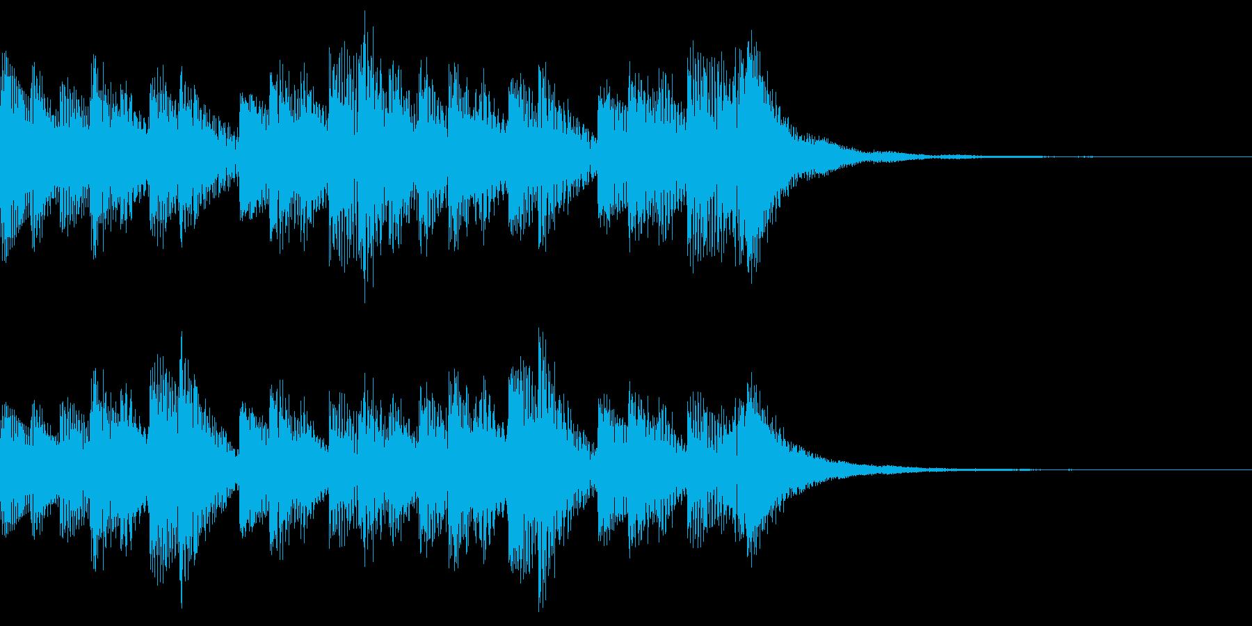 着信音 シンプルなマリンバの再生済みの波形